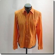 Ann Taylor Orange Stretch Long Sleeve Top 10 - $18.78