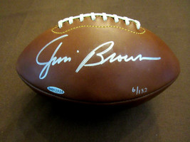 JIM BROWN CLEVELAND BROWNS HOF SIGNED AUTO LIMITED EDITION STAT FOOTBALL... - $989.99