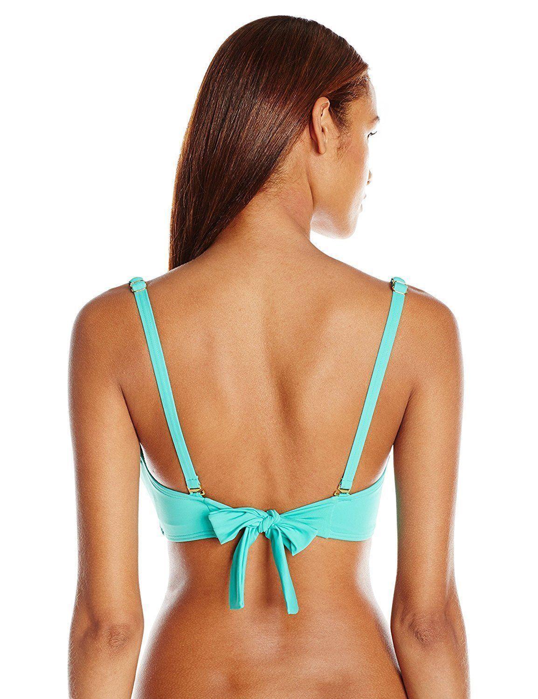 NEW Coco Reef Sea Blue Polka Dot Convertible Five Way Bikini Swim Top 36/38 C