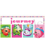 Shopkins Easter Basket Sticker, Waterproof and Personalized - $2.50+