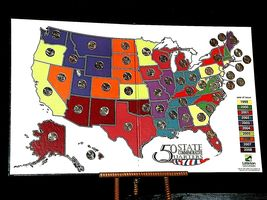 50 State Quarters Collector's Map and Coins AA19-CN19Q6022 image 9