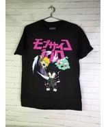 Mob Psycho 100 Anime Licensed Graphic Print Short Sleeve Tee T-Shirt Men... - $24.74