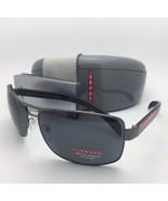 PRADA Sport Polarized Sunglasses SPS 54I 5AV-5Z1 65-14 Gunmetal Frames w... - $319.95
