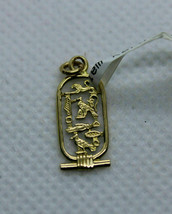 Egyptian Gorgeous Fancy Design Cleopatra Cartouch Pendant Solid 18K Yellow Gold - $153.22