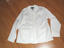 Denim & Co. Shirt JACKET/BLAZER Size S - M White Stretch Nwt - $16.99