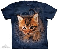 "POUNCE KITTEN ""CAPTAIN SNUGGLES"" ADULT T-SHIRT THE MOUNTAIN SETH CASTEEL - $19.30+"