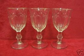SET OF 3 VINTAGE SMALL CLEAR SHERRY GLASSES CORDIAL - $10.84