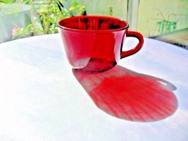 Set of 2 Anchor Hocking Royal Ruby Coffee Cups  c1950's - $8.91