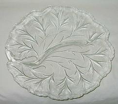 Indiana USA Pebble Leaf Pattern 2-Part 10-inch Relish Dish - $9.85