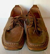 CLARKS - Men's Originals Brown Leather Lace up Boat Shoes -- Size 8M - $26.99