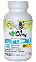 Vet Worthy Joint Support Liver Flavored Chewables for Dogs - 60 Count - Level 1 - $96.99