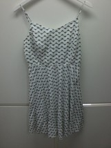 W13896 Womens OLD NAVY Black/White Rayon SKATER DRESS Sun Tank LARGE - $13.55