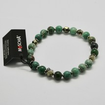 Silver 925 Bracelet with Hematite and Jasper Bbus-5 Made in Italy by Maschia image 2