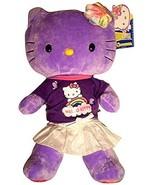 Build a Bear Purple Rainbow Hugs Hello Kitty Sanrio 18in. Stuffed Plush ... - $189.97
