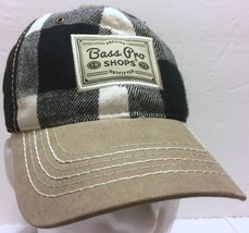 Premier Bass Pro Shops Outfitters Black White Buffalo Plaid Hat Fishing ... - $60.88