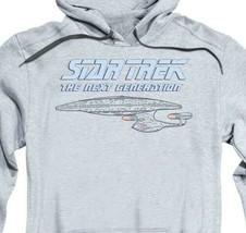 Star Trek The Next Generation USS Enterprise Starship graphic hoodie CBS1208 image 2
