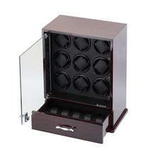 Diplomat Nine 9 Automatic Watch Winder Black Wood Display Storage Case B... - $695.00