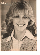 Olivia Newton John teen magazine pinup clipping black and white I am