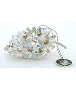 VTG JULIANA D&E Gold Tone Clear Rhinestone Dangle Crystal Leaf Pin Brooch - $148.50