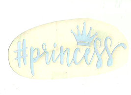 hashtag princess  decal red or white colour ideal cars, trucks, home etc  image 2