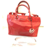 Michael Kors Bedford Red Leather Bag - $195.00