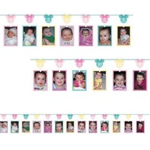 Minnie Mouse Fun To Be One Photo Garland Banner Happy Birthday Party - €11,92 EUR