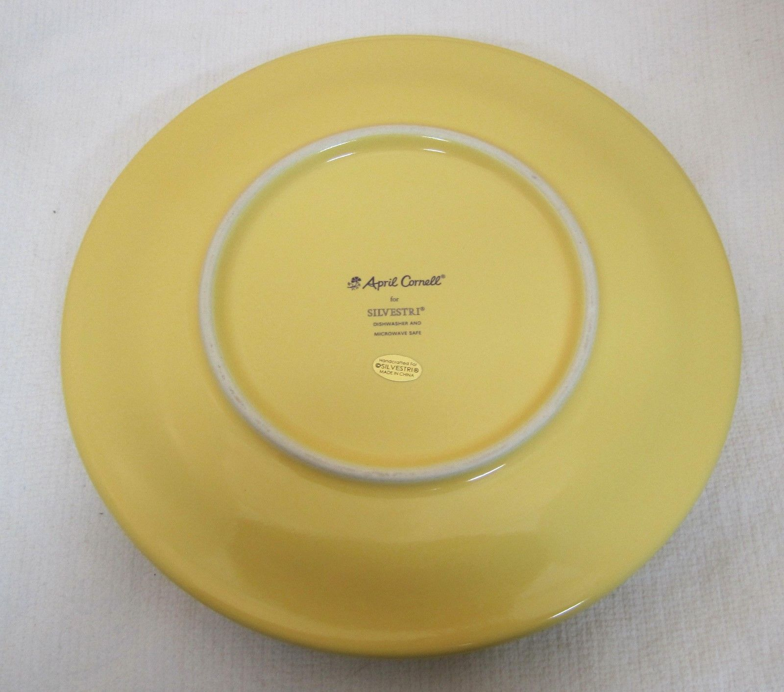 ... 4 April Cornell For Silvestri Yellow w Flower Plate 8 Inch NEW with foil TAG ... & 4 April Cornell For Silvestri Yellow w and 12 similar items