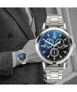 Luxury Men Watches  Black Watch Men Stainless Steel Waterproof Business Sport - $0.99