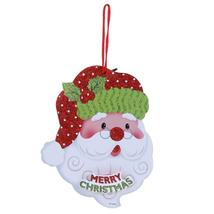 (05)Merry Christmas Shaped Hanging Letters Snowman Santa Claus Pendant C... - $14.00