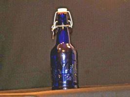 Blue Cobalt Bottle with Porcelain Swing Little John's Kansas City KS AA19-1570 V image 4