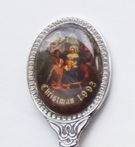 Collector Souvenir Spoon Christmas 1993 Nativity Scene Emblem - $4.99