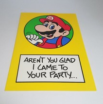 "Vintage Super Mario Brothers Greeting Card Nintendo 1989 ""Glad I Came"" - $9.99"
