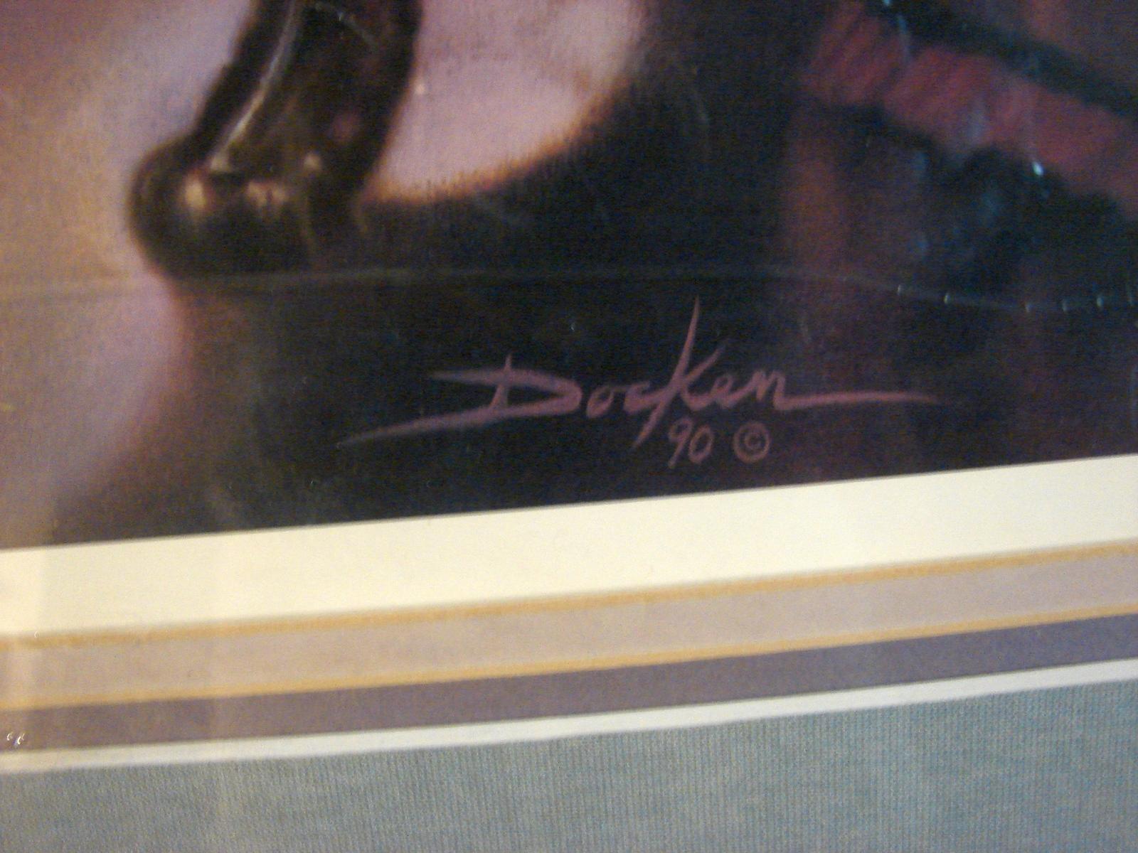 Older Russ Docken Signed, Ltd Ed Numbered, Matted Print (1990)