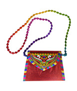 Zonnie Jaya Indian Embroidered Small Purse Red - $20.28