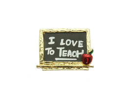 I Love To Teach Pin & Brooch - $11.95