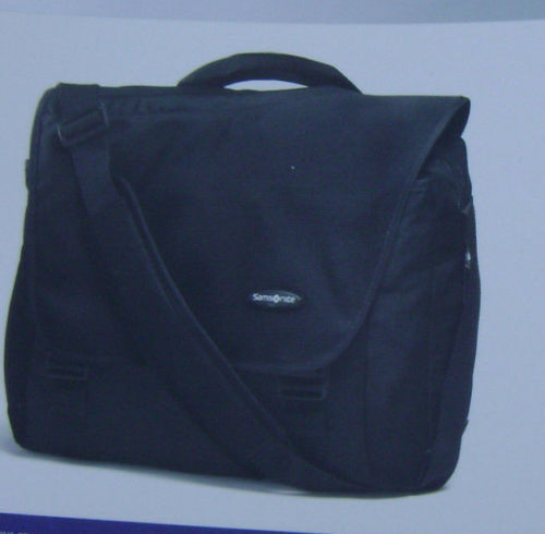 Samsonite CITY MESSENGER LAPTOP SHOULDER BAG BLACK SOLID NEW