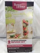 New Better Homes Beverage Dispenser Infuser 2 P... - $11.99