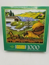 MB Charles Wysockis Americana 1000 Piece Puzzle - Paper Route - New Sealed Box - $25.73