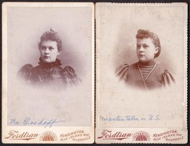 Young Immigrant Girl, Surname: Groskopf (2) Cabinet Photos - Illinois - $34.50