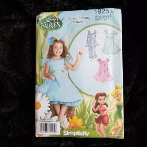 Primary image for Simplicity 1925 Disney Fairies Dress Top Pants Girls Size 3 4 5 6 7 8 UNCUT