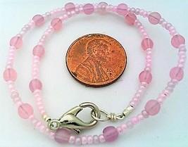 Pink Opal Glass Bracelet - $12.03