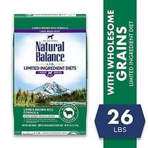 Natural Balance L.I.D. Limited Ingredient Diets Dry Dog Food, 26 Pounds, Lamb &  - $83.97