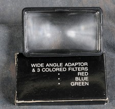 Flash & Wide Angle Adaptor & 3 Colored Filters - $9.99