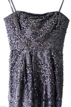 NWT BCBG Max Azria Gorgeous Hot Black Sexy Sequined Convertible Carole Dress 12 - $178.00