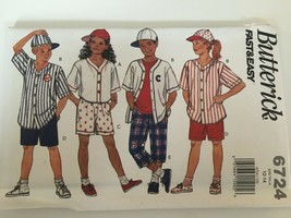 Butterick Sewing Pattern 6724 Fast & Very Easy Size 12 14 Boys Shorts To... - $10.80