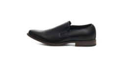Alpine Swiss Double Diamond Mens Leather Slip-On Dress Shoes - Black - Size 14 image 3