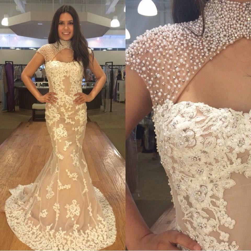 mermaid prom dress,long prom dress,elegant prom dress,high neck prom dresses