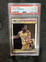 1987 Fleer #56 Magic Johnson PSA 6 - $23.52