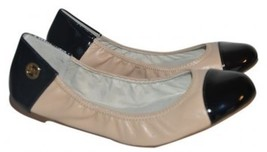 KORS Michael Kors Erin Nude/Blalck Ballet Flats Shoes Size 6.5 - $74.99