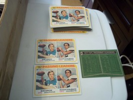 45 1978 TOPPS FOOTBALL CARD 331 77 NFL PASSING LEADERS BOB GRIESE ROGER ... - $123.75